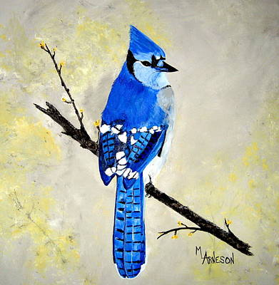 Painting - Dressed In Blue by Mary Arneson