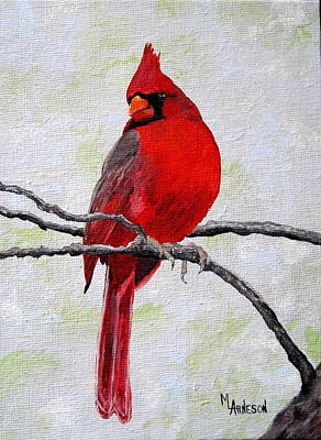 Wall Art - Painting - Dressed In Red by Mary Arneson