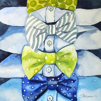 Bowtie Painting - Dressed To Impress by Roleen  Senic