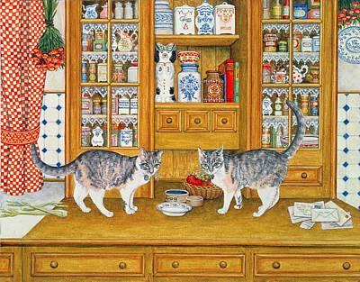 Dresser Cats Art Print by Ditz