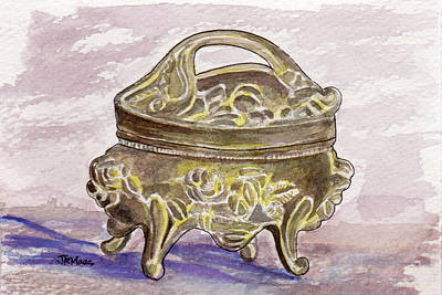 Treasure Box Painting - Dresser Treasure Bos by Julie Maas