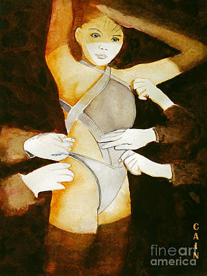 Painting - Dressing Girl Art Print by William Cain