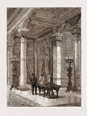 Dressing-room In The Sultans Palace At Beylerbey Print by Litz Collection