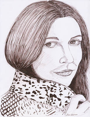 Drawing Drawing - Drew Barrymore Sketch by M Valeriano