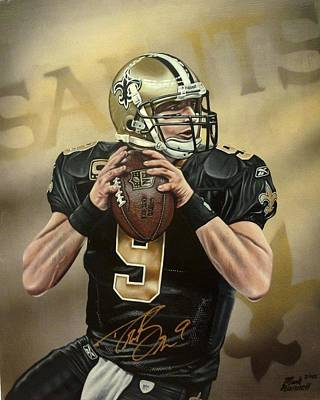 Drew Brees Painting - Drew Brees by Mark Kannell