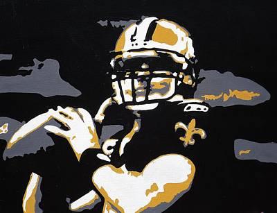 Drew Brees Painting - Drew by Steve Cochran