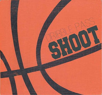 Basketball Painting - Dribble, Pass, Shoot by Alli Rogosich