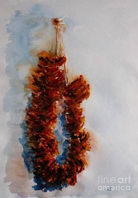 Painting - Dried Apples by Zaira Dzhaubaeva
