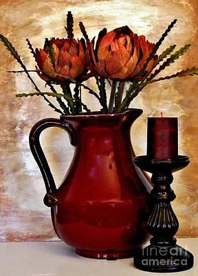 Wrap Digital Art - Dried Artichoke Bouquet by Marsha Heiken