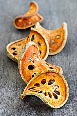 Dried Photograph - Dried Bael Fruit by Elena Elisseeva