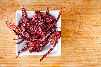 Extreme Restaurant Photograph - Dried Chilli by Tim Hester