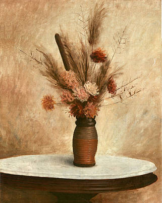 Painting - Dried Flower Arrangement by G Linsenmayer
