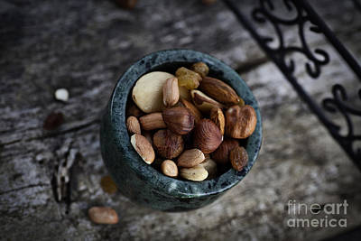 Dried Fruit And Nuts Art Print by Mythja  Photography