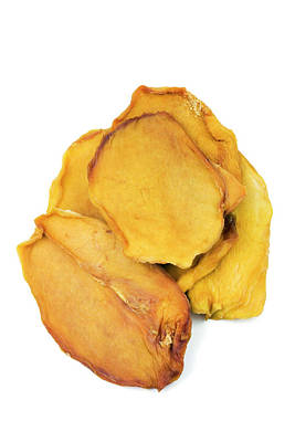 Mango Wall Art - Photograph - Dried Mango Slices by Geoff Kidd/science Photo Library