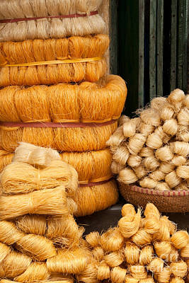 Photograph - Dried Rice Noodles 01 by Rick Piper Photography