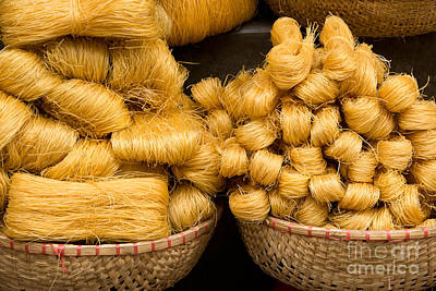 Photograph - Dried Rice Noodles 02 by Rick Piper Photography