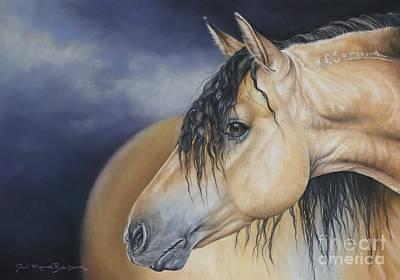 Buckskin Horse Pastel - Drifter by Joni Beinborn