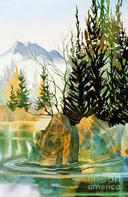 Painting - Drifting Downstream by Teresa Ascone