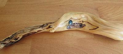 Painting - Driftwood Art - Mallard by Cheryl Bailey