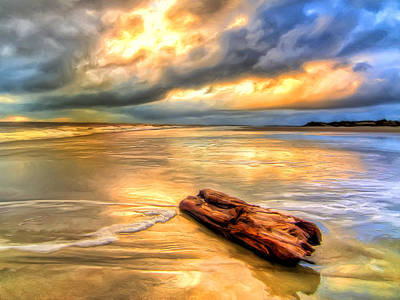 Isle Of Palms Painting - Driftwood At Isle Of Palms by Dominic Piperata