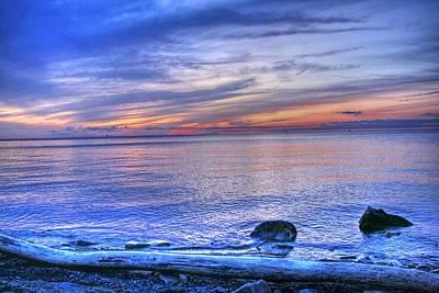 Niagara Beach Photograph - Driftwood Beach Sunset by Michael Allen