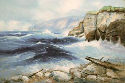 Driftwood Cliffs Art Print