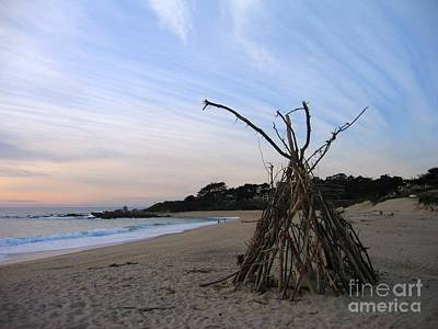 Photograph - Driftwood Tipi by James B Toy