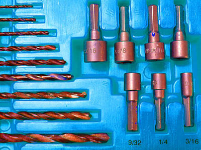 Photograph - Drill Bits K by Laurie Tsemak