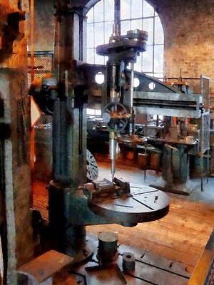 Press Photograph - Drill Press Near Window by Susan Savad