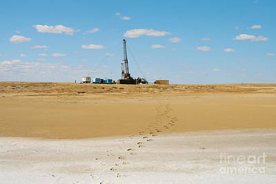 Drilling In The Desert. Art Print by Alexandr  Malyshev