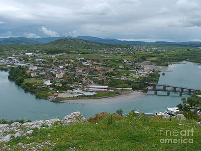 Photograph - Drin River From Rozafa Castle - Albania by Phil Banks