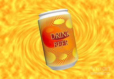 Drink Beer  Art Print by Rob Hawkins