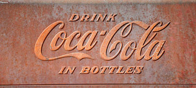 Photograph - Drink Coca-cola In Bottles Sign by rd Erickson