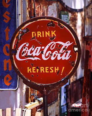 Drink Coca-cola Sign Art Print