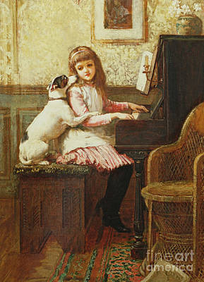 Puppies Painting - Drink To Me Only With Thine Eyes by Charles Trevor Garland
