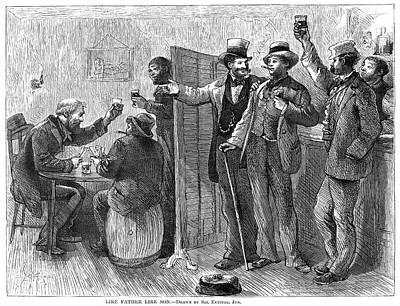 Bartender Painting - Drinking, 1874 by Granger