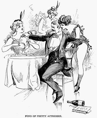 Drinking, 1895 Art Print by Granger