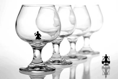 Drinking In Cups Art Print