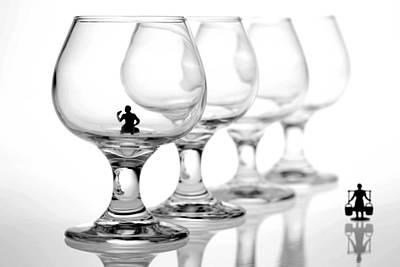 Drinking In Cups Original by Paul Ge