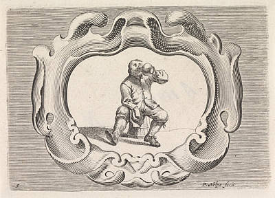 Farm Scene Drawing - Drinking Peasant, Pieter Nolpe by Pieter Nolpe And Pieter Jansz. Quast