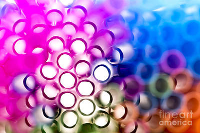 Vibrant Photograph - Drinking Straws 1 by Jane Rix