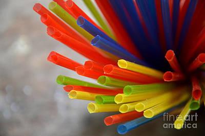 Dancefloor Photograph - Drinking Straws by Antoni Halim