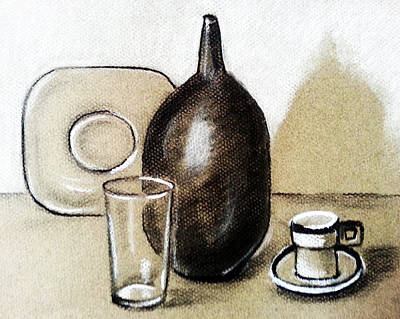 Still Life Drawings - Drinking Vessel by Tami Dalton