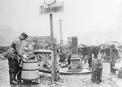 1910s Photograph - Drinking Water Pump by Library Of Congress