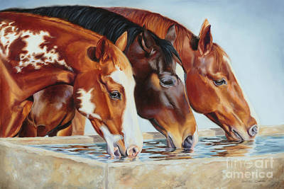 Painting - Drink'n Buddies by Charice Cooper