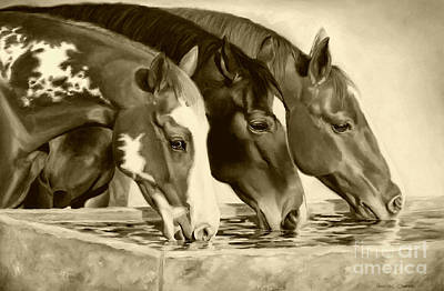 Painting - Drink'n Buddies Sepia by Charice Cooper