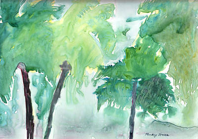 Painting - Dripping Palms by Mickey Krause