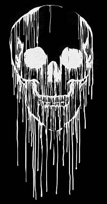 Digital Art - Dripping Skull by Carbine