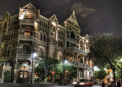 6th Street Photograph - Driskill Hotel by Jane Linders