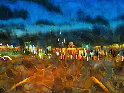 Digital Art - Drive By Night by Wendy J St Christopher